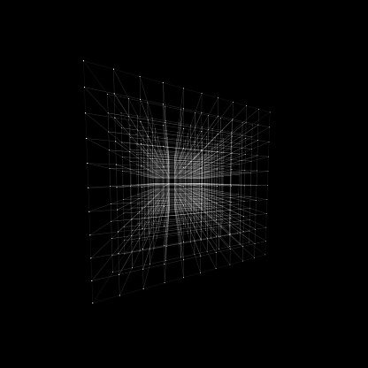 3D shape, infinite in space. With white dots marking joins