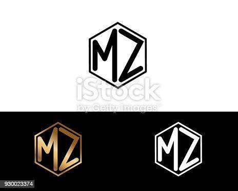 istock MZ shape letters Design 930023374