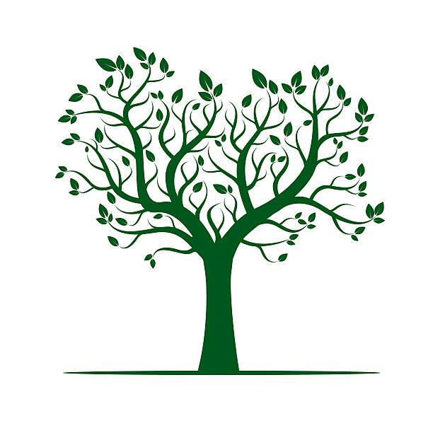 form von grünen bäumen. vektor-illustration. - winterruhe stock-grafiken, -clipart, -cartoons und -symbole