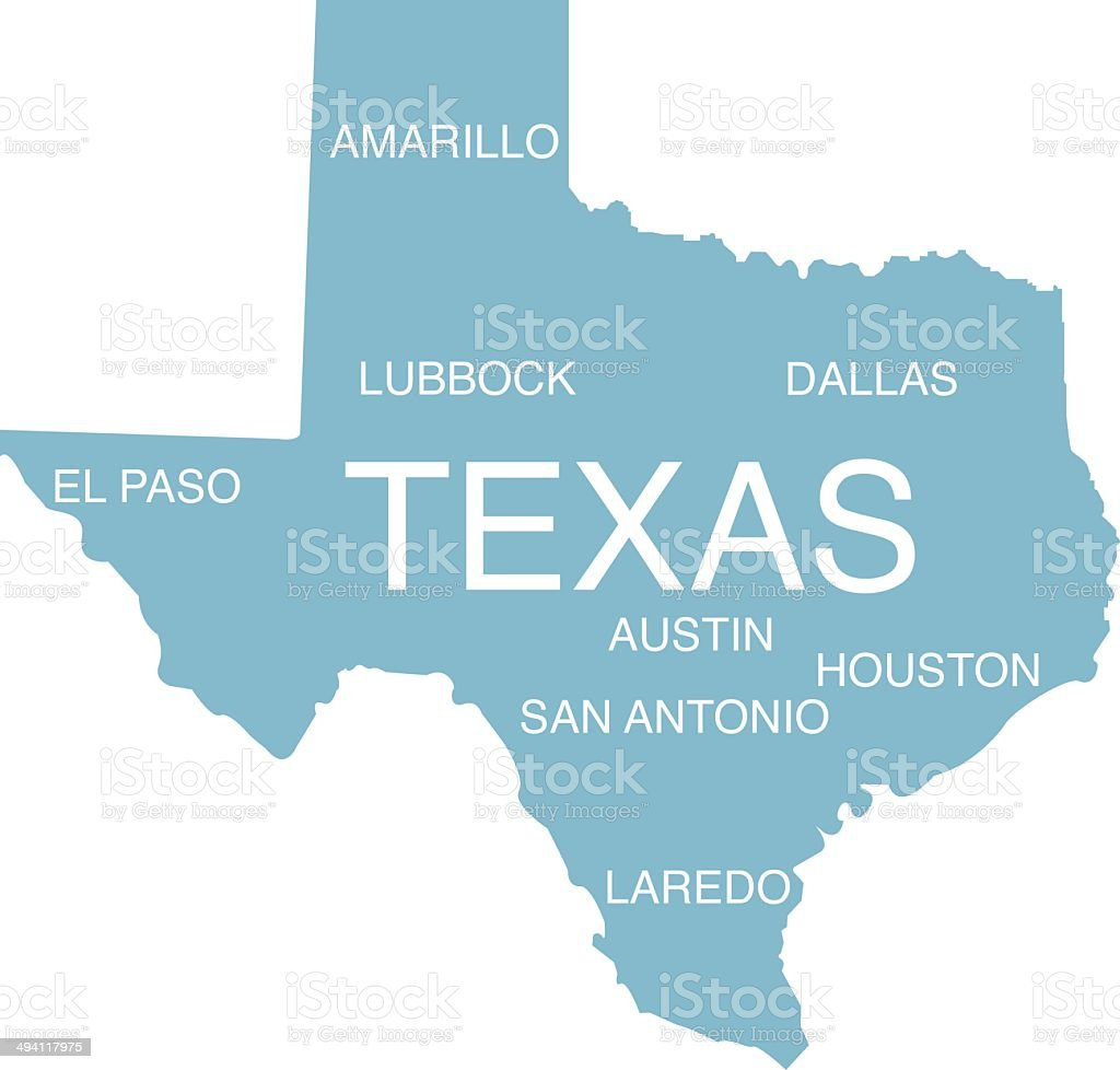 Map Of Texas With Austin.Shape Of Texas Stock Illustration Download Image Now Istock