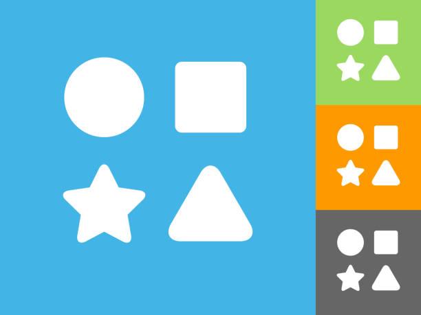Shape Toys  Flat Icon on Blue Background vector art illustration