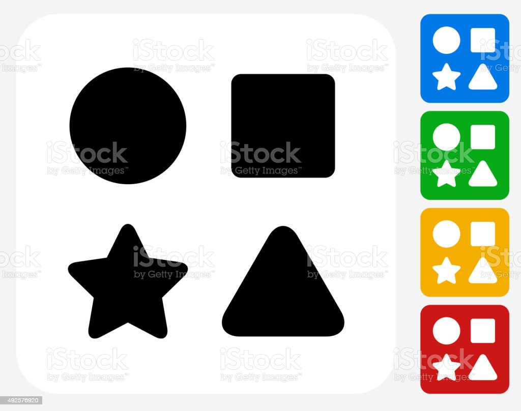 Shape Toys Icon Flat Graphic Design vector art illustration