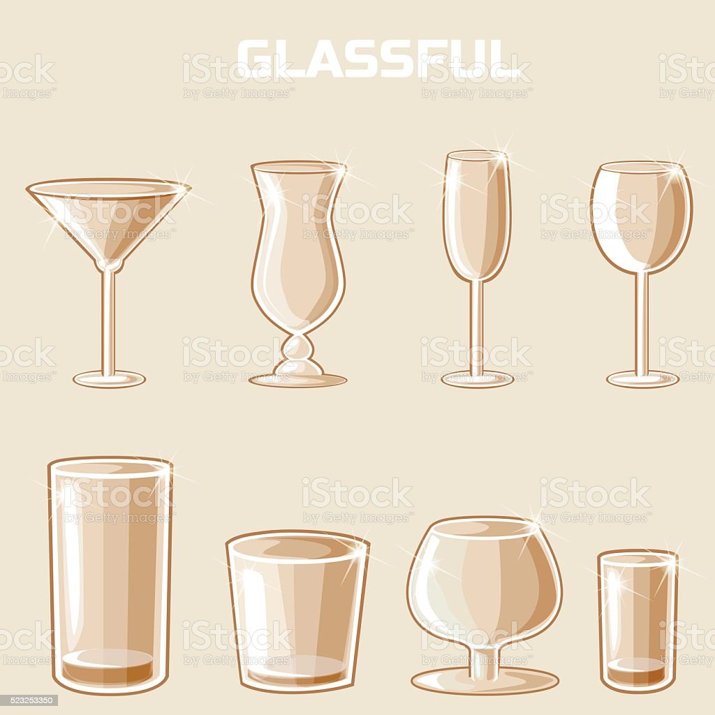 shaped wineglass, game element vector vector art illustration