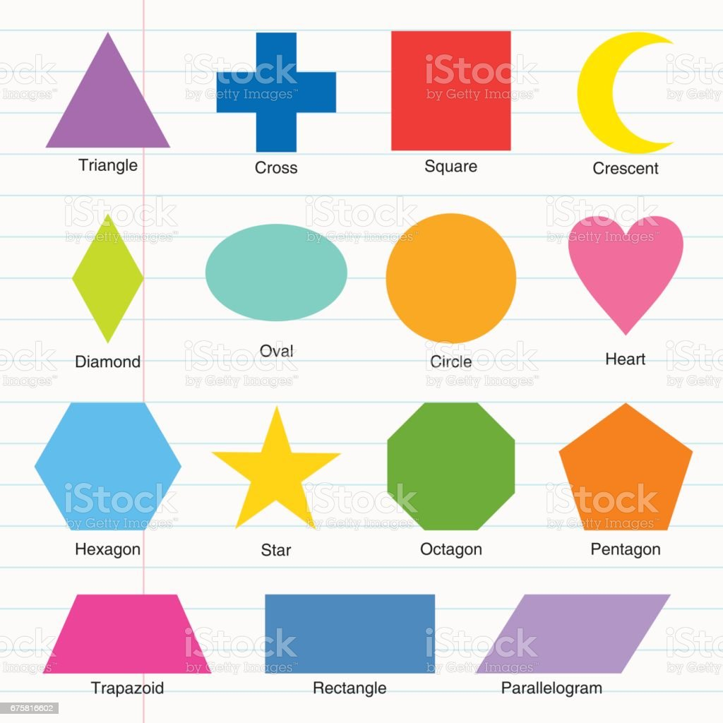 shapes chart vector art illustration