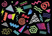 Shapes from the eighties and nineties