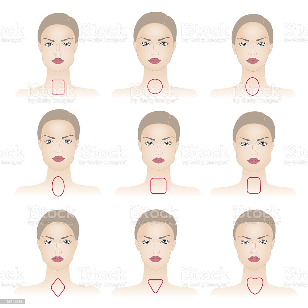 Shapes of woman face with lines royalty-free stock vector art