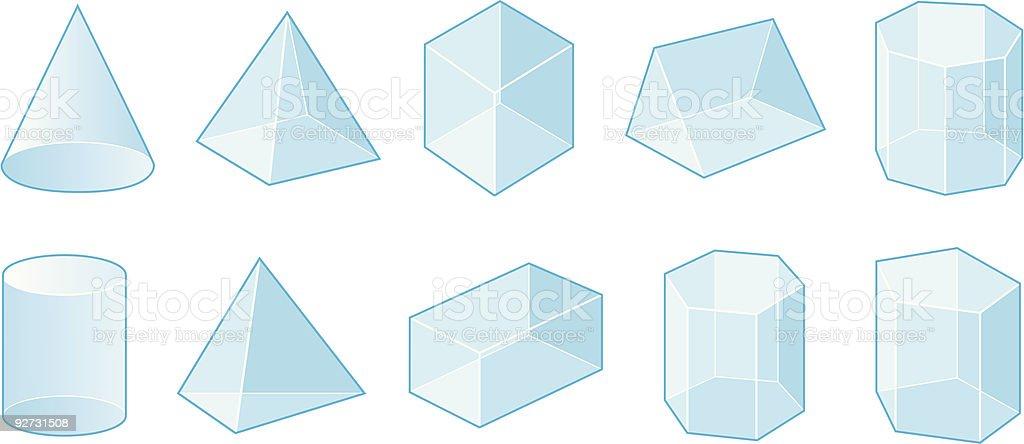 Shapes vector art illustration