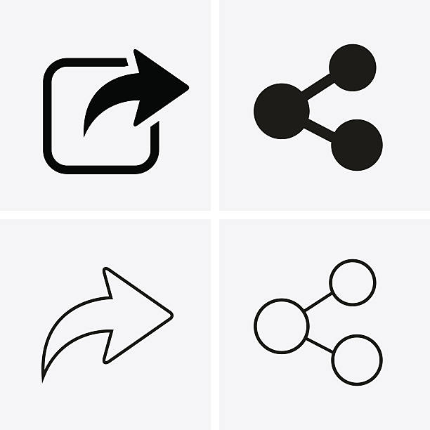 Share Icons vector art illustration