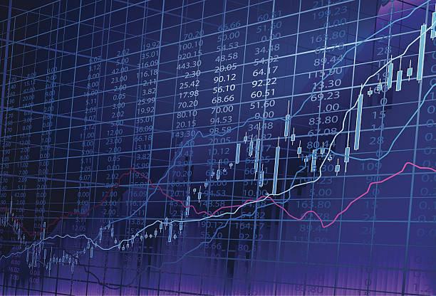 share market vector art illustration