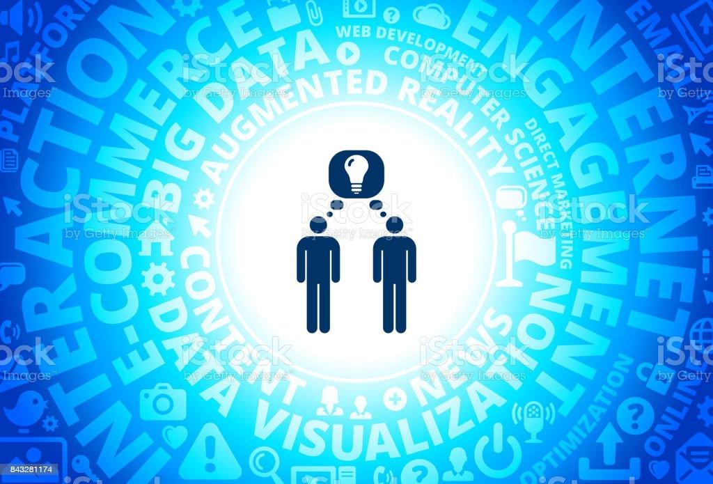 Sharing Idea Icon on Internet Modern Technology Words Background vector art illustration