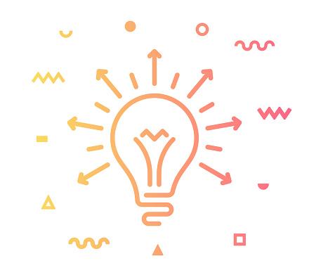 Sharing Ideas Line Style Icon Design