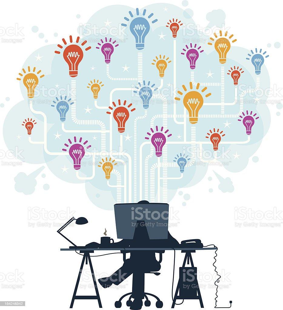 Sharing ideas online royalty-free stock vector art