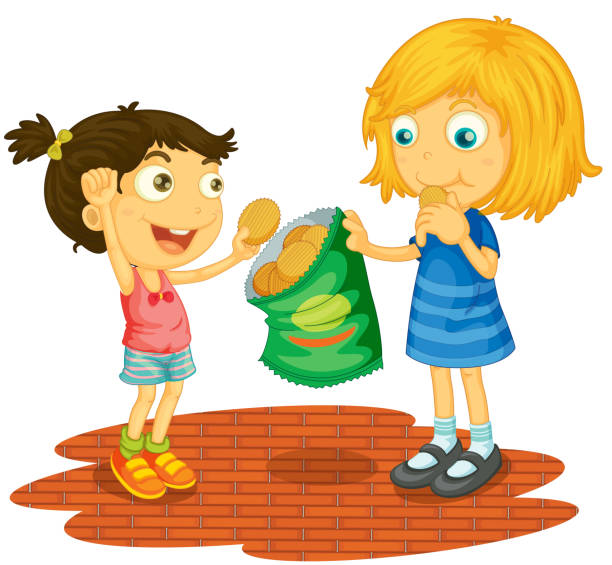 Royalty Free Children Sharing Clip Art, Vector Images ...