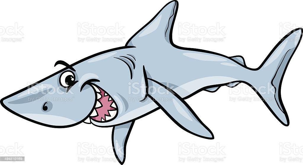 Ilustración de Tiburón Ilustración De Dibujos Animados De Animales y ...