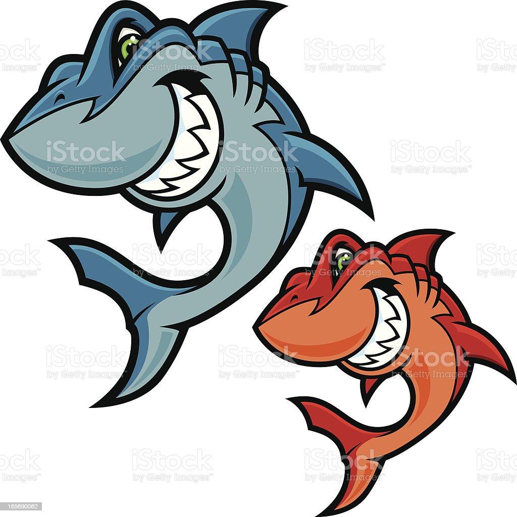 Shark Attack Mascot royalty-free stock vector art