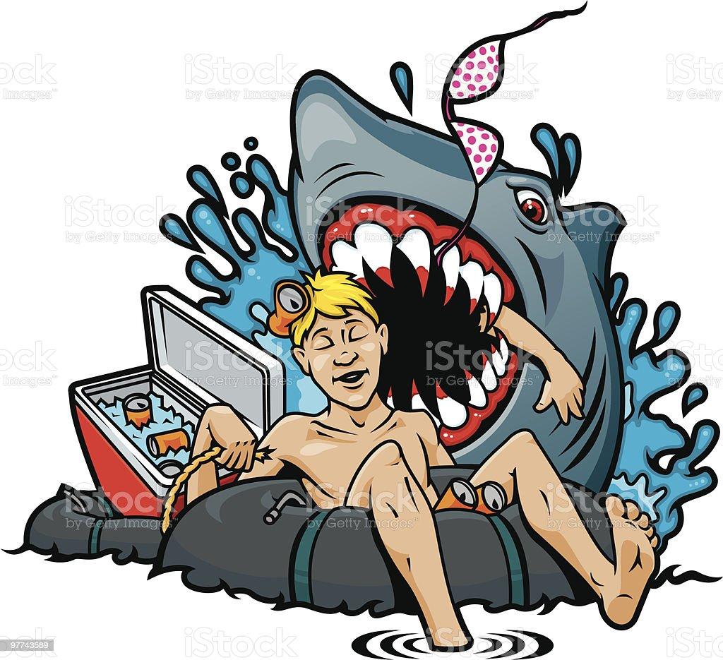 Shark Attack royalty-free stock vector art