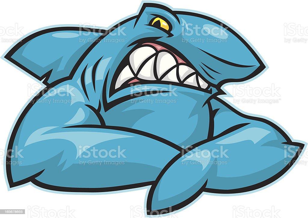 Shark Bite vector art illustration