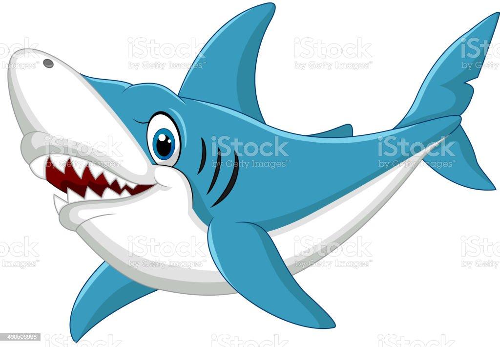 Ilustración De Tiburón Ilustración Dibujo Animado Y