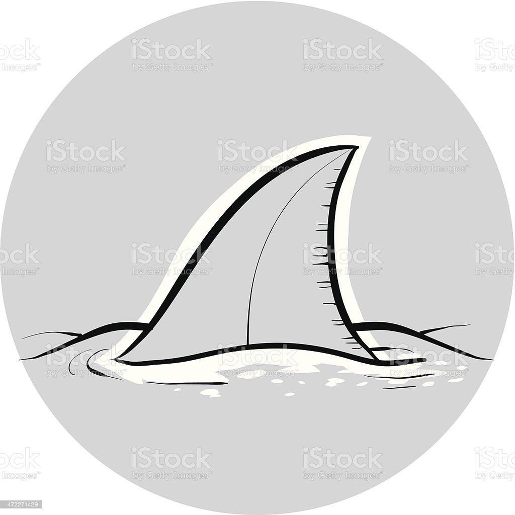 Shark Dorsal Fin royalty-free stock vector art