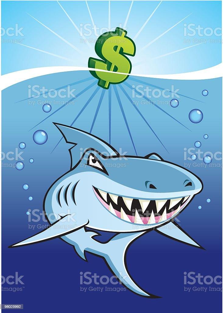 Shark Eats Dollar royalty-free shark eats dollar stock vector art & more images of animal body part