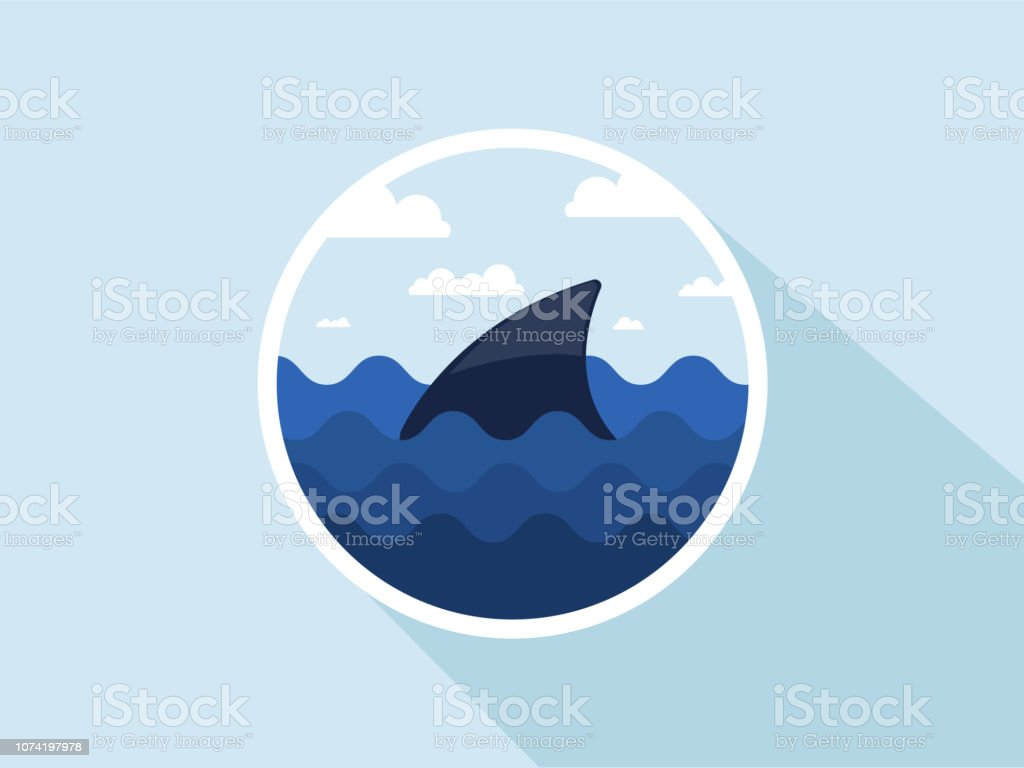 Shark Fin Stock Illustration - Download Image Now - iStock