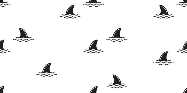 Best Shark Fin Illustrations, Royalty-Free Vector Graphics ...