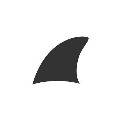 Shark fin symbol vector illustration