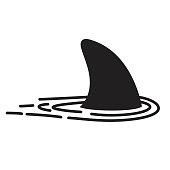 Shark fin vector icon logo dolphin character illustration symbol graphic