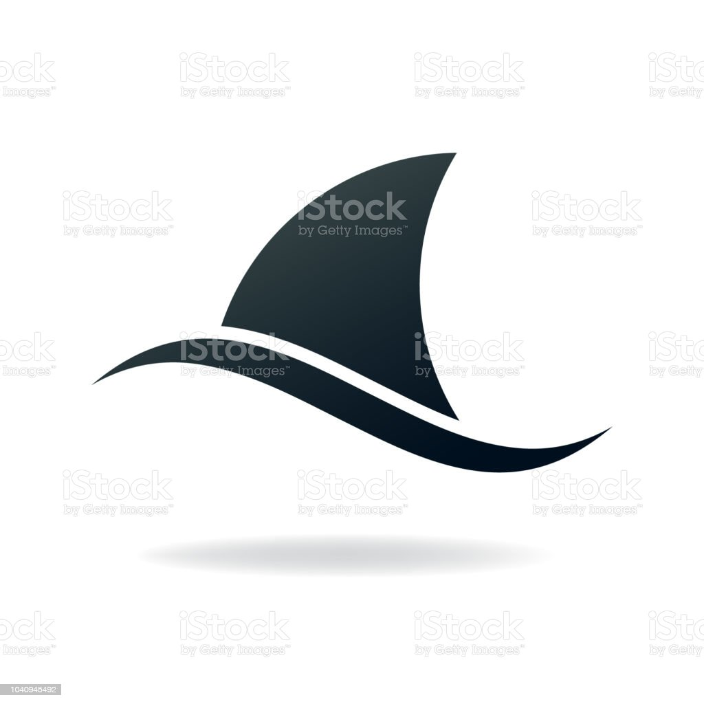 Shark Fin Stock Illustration - Download Image Now - iStock