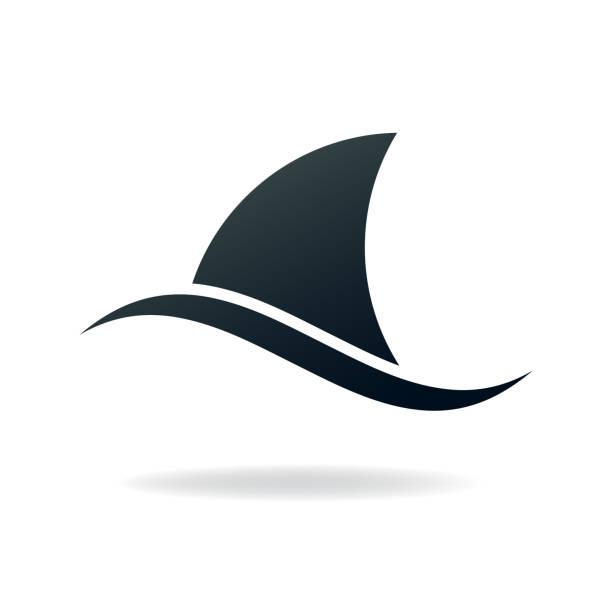 shark fin shark fin. eps 10 vector file animal fin stock illustrations
