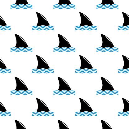 Shark Fins Seamless Pattern
