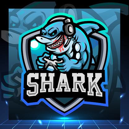 Shark gaming mascot. symbol design