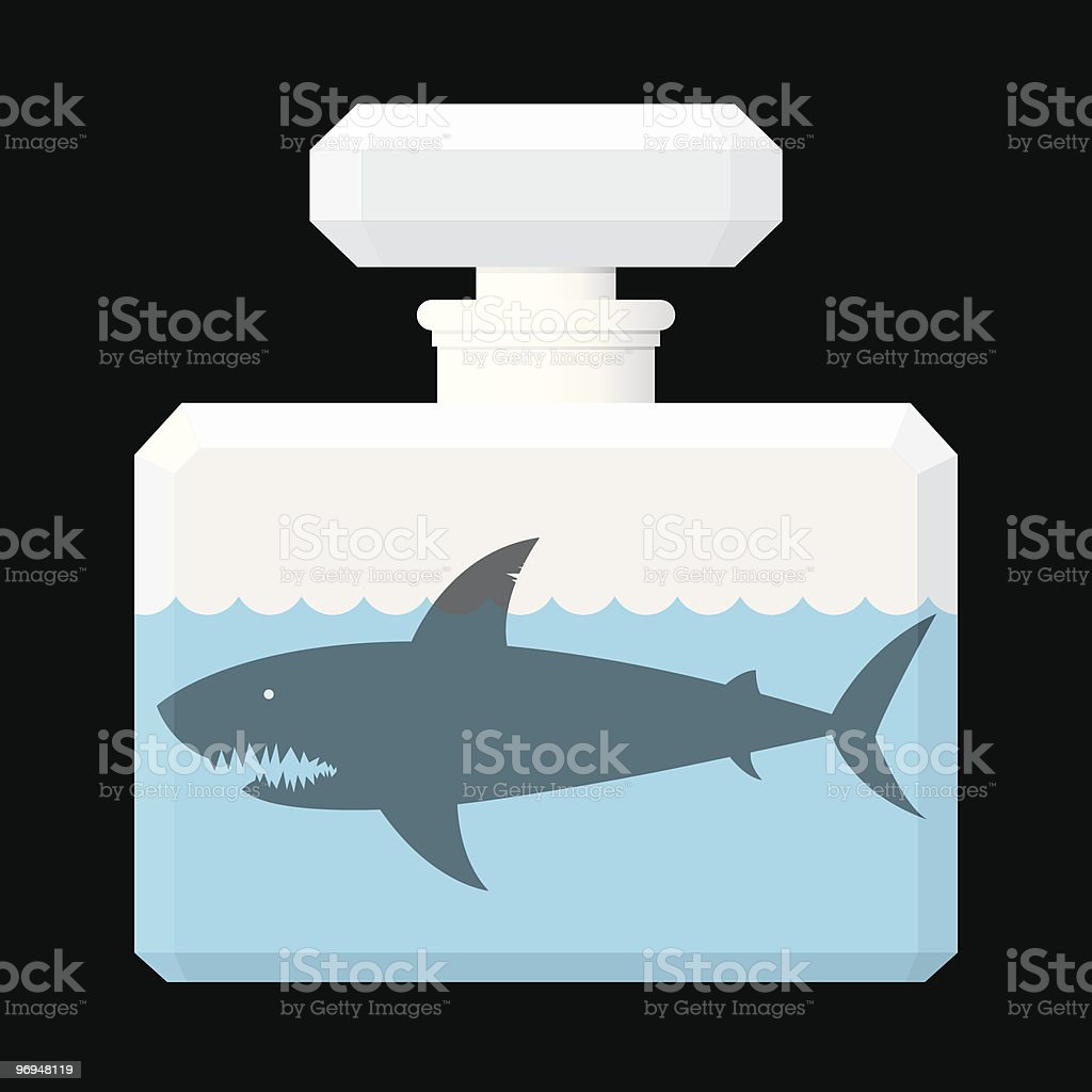 Shark in perfume flask royalty-free shark in perfume flask stock vector art & more images of animal