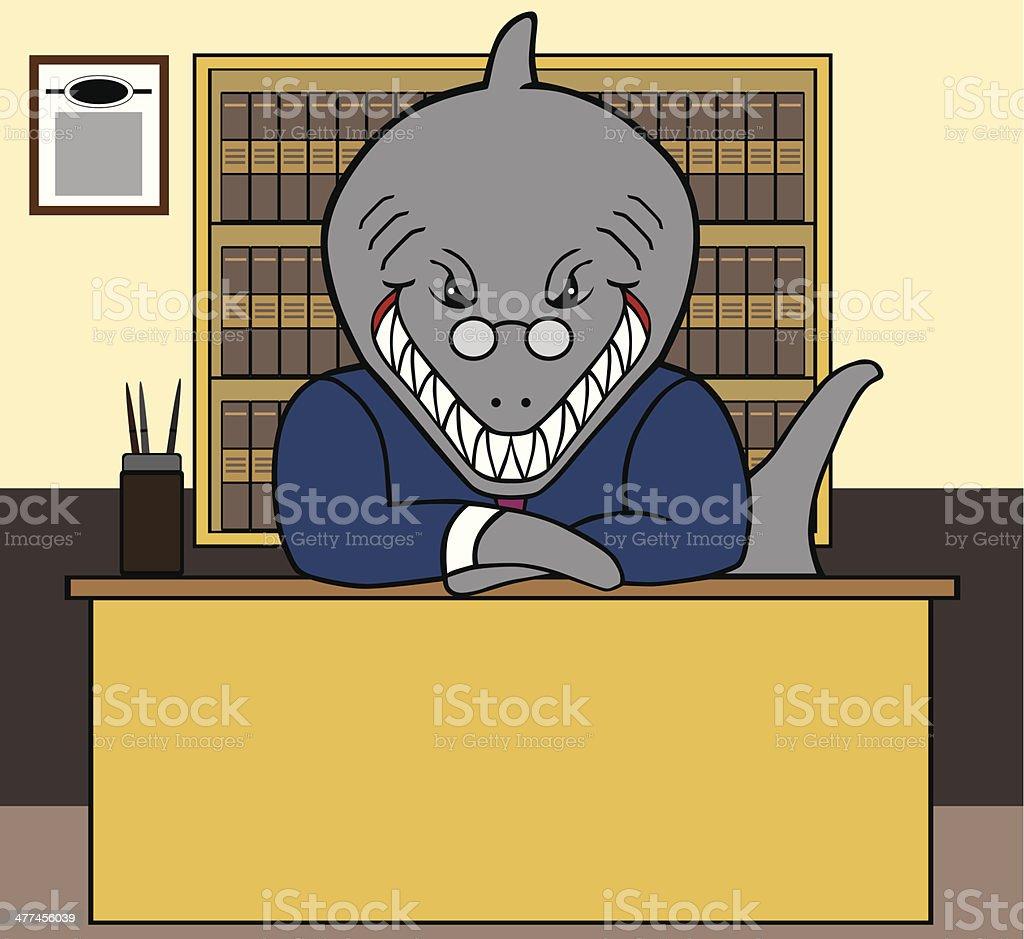 Shark Lawyer vector art illustration