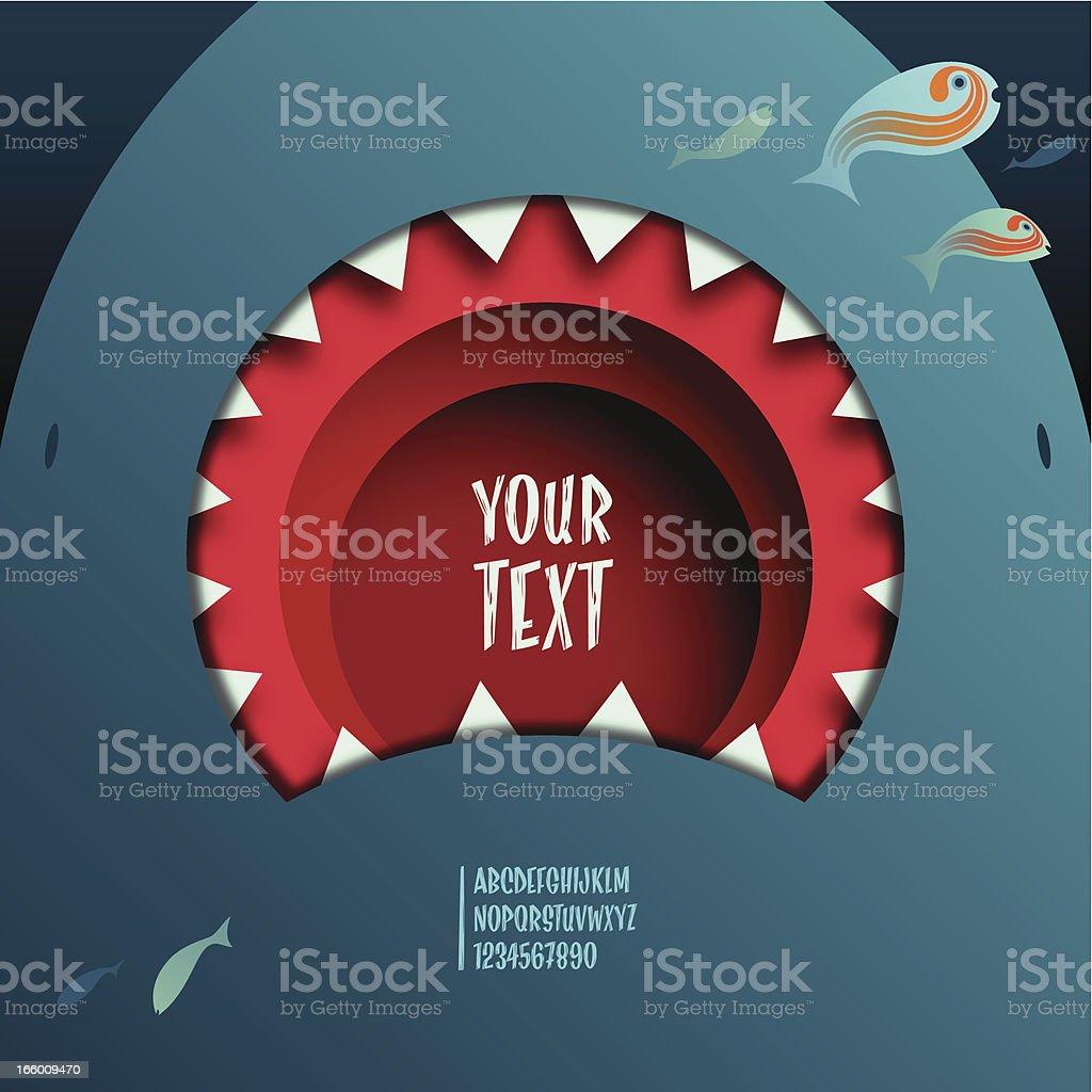 shark mouth royalty-free stock vector art