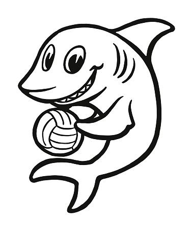 Shark Playing Water Polo