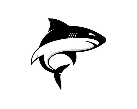 Shark silhouette vector art illustration
