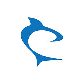 abstract shark graphic element