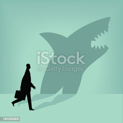 Businessman is a shark in disguise.