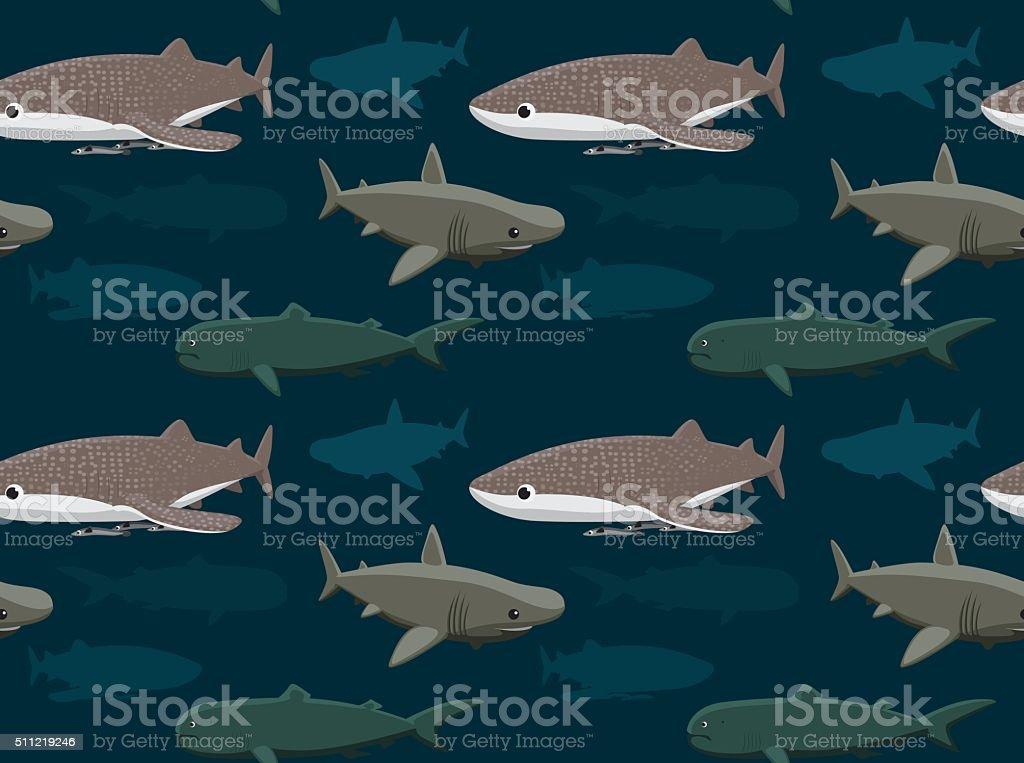 Sharks Wallpaper 11 Manga Style Cartoon EPS10 File Format Animal stock vector