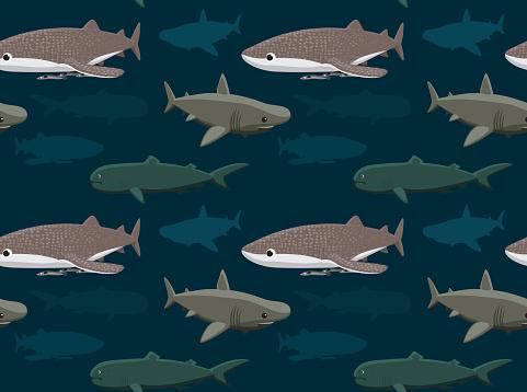 Sharks Wallpaper 11 Stock Illustration - Download Image Now