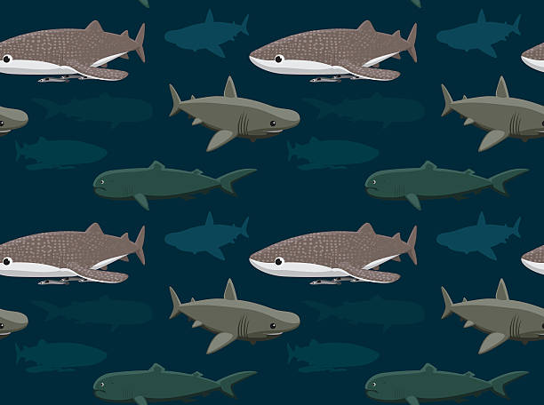 Sharks Wallpaper 11 vector art illustration