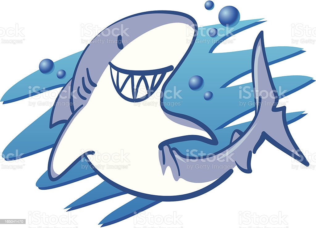 Sharky Smile royalty-free stock vector art