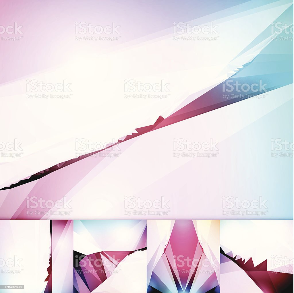 Sharp Cuts Futuristic Geometric Graphic Art Abstract Vector Background royalty-free stock vector art