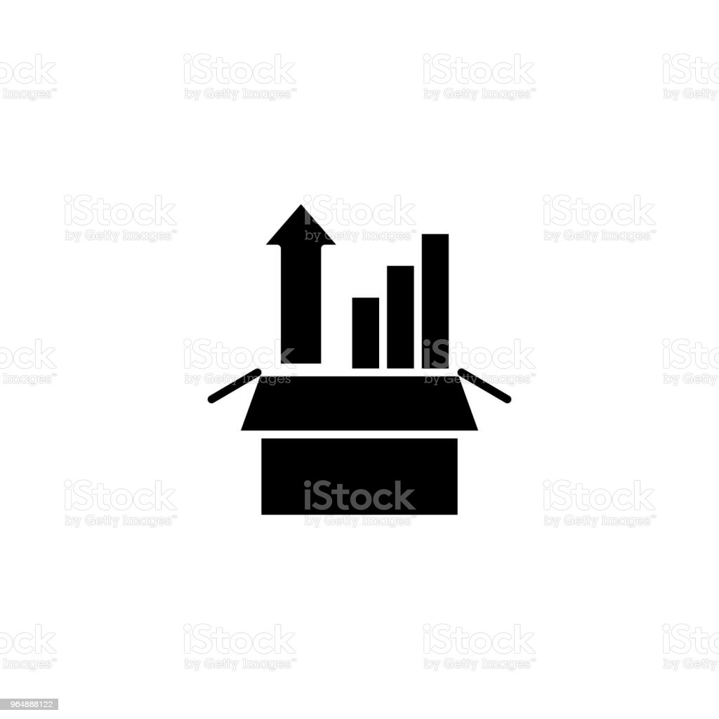 Sharp rise black icon concept. Sharp rise flat  vector symbol, sign, illustration. royalty-free sharp rise black icon concept sharp rise flat vector symbol sign illustration stock vector art & more images of art