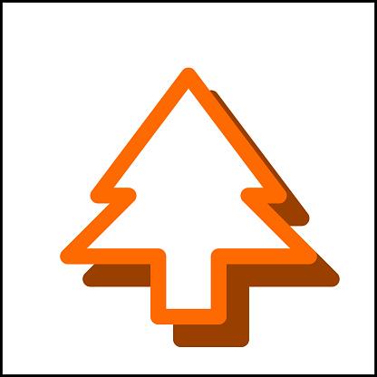 Sharp tree icon in flat design 07