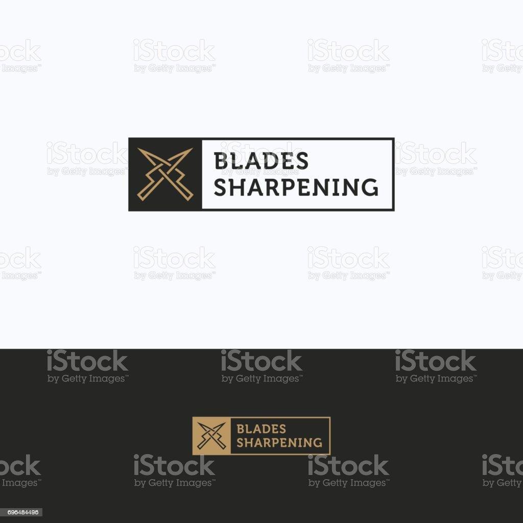 Sharpening service icon vector art illustration