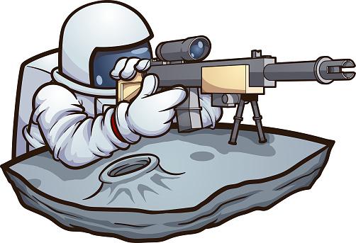 Sharpshooter astronaut