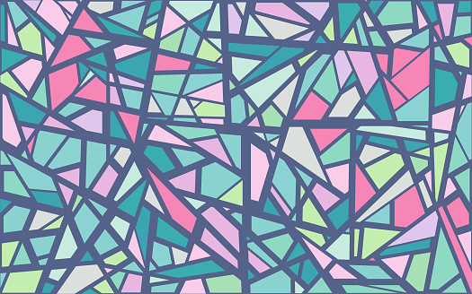 Shattered Glass Abstract Background Pattern