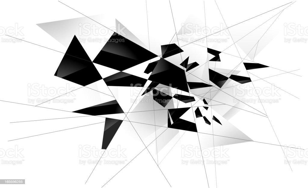 shattered Glass White vector art illustration